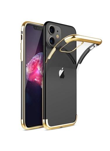Microsonic Apple iPhone 11 (6.1'') Kılıf Skyfall Transparent Clear Gold Altın